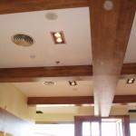Detalles del techo de un restaurante